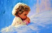 金色童年 二 法国画家 Donald Zolan 儿童水彩画集 黎明的祈祷 小孩子水彩画图片 金色童年儿童水彩画壁纸二 绘画壁纸