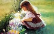 金色童年 二 法国画家 Donald Zolan 儿童水彩画集 春天的颜色 小孩子水彩画图片 金色童年儿童水彩画壁纸二 绘画壁纸