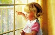 金色童年 二 法国画家 Donald Zolan 儿童水彩画集 金发小宝贝 可爱小女孩水彩画图片 金色童年儿童水彩画壁纸二 绘画壁纸