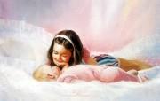 金色童年 二 法国画家 Donald Zolan 儿童水彩画集 姐姐 童年 儿童节绘画壁纸 金色童年儿童水彩画壁纸二 绘画壁纸