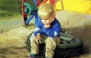 金色童年 二 法国画家 Donald Zolan 儿童水彩画集 小思想家 儿童水彩画壁纸 金色童年儿童水彩画壁纸二 绘画壁纸