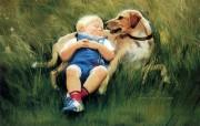 金色童年 二 法国画家 Donald Zolan 儿童水彩画集 好朋友 趣味童年时光图片 金色童年儿童水彩画壁纸二 绘画壁纸