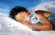 金色童年 二 法国画家 Donald Zolan 儿童水彩画集 中午的小睡 儿童水彩画图片 金色童年儿童水彩画壁纸二 绘画壁纸