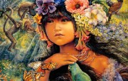 Princess of the Amazona Josephine Wall 华丽奇幻插画 Josephine Wall 天国精灵华丽幻想插画第二集 绘画壁纸