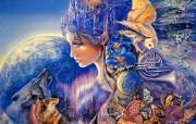 One in a Blue Moon Josephine Wall 华丽奇幻插画 Josephine Wall 天国精灵华丽幻想插画第二集 绘画壁纸