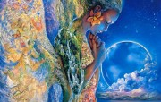 Sadness of Gaia Josephine Wall 华丽奇幻插画 Josephine Wall 天国精灵华丽幻想插画第二集 绘画壁纸