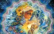 Creation of Summer Josephine Wall 华丽奇幻插画 Josephine Wall 天国精灵华丽幻想插画第二集 绘画壁纸