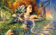 Enchantment Josephine Wall 华丽奇幻插画 Josephine Wall 天国精灵华丽幻想插画第二集 绘画壁纸
