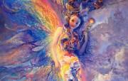 Iris Keeper of the Rainbow Josephine Wall 华丽奇幻插画 Josephine Wall 天国精灵华丽幻想插画第二集 绘画壁纸