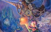 My Lady Unicorn Josephine Wall 华丽奇幻插画 Josephine Wall 天国精灵华丽幻想插画第二集 绘画壁纸