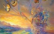 Up and Away Josephine Wall 华丽精灵插画 Josephine Wall 天国精灵华丽幻想插画第二集 绘画壁纸