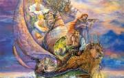 Voyage to Murrlis Sea Josephine Wall 华丽奇幻插画 Josephine Wall 天国精灵华丽幻想插画第二集 绘画壁纸