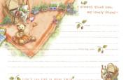 卡通信纸彼得兔的童话 绘画壁纸