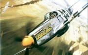 空战绘画壁纸二手绘二战战斗机图片 绘画壁纸