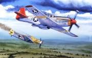 空战绘画壁纸四手绘战斗机图片 绘画壁纸