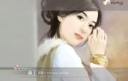 浪漫爱情小说手绘美女壁纸 浪漫爱情小说美女壁纸第十四辑 绘画壁纸