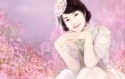 浪漫言情小说手绘美女壁纸 壁纸2 浪漫言情小说手绘美女 绘画壁纸