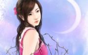 浪漫言情小说手绘美女壁纸 壁纸4 浪漫言情小说手绘美女 绘画壁纸