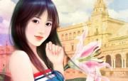 浪漫言情小说手绘美女壁纸 壁纸10 浪漫言情小说手绘美女 绘画壁纸