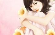 浪漫言情小说手绘美女壁纸 壁纸12 浪漫言情小说手绘美女 绘画壁纸