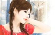 浪漫言情小说手绘美女壁纸 壁纸16 浪漫言情小说手绘美女 绘画壁纸