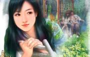 浪漫言情小说手绘美女壁纸 壁纸20 浪漫言情小说手绘美女 绘画壁纸