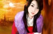 浪漫言情小说手绘美女壁纸 壁纸27 浪漫言情小说手绘美女 绘画壁纸