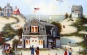 1600 1200 Far Seas Trading Company 美国乡村风情绘画 Linda Nelson Stocks 美国乡村风情画壁纸 绘画壁纸