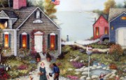 1600 1200 On The Bay Linda Nelson Stocks Folk Art wallpaper Linda Nelson Stocks 美国乡村风情画壁纸 绘画壁纸