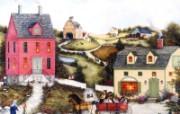 1600 1200 Wagon Ride 美国乡村风情绘画 Linda Nelson Stocks 美国乡村风情画壁纸 绘画壁纸