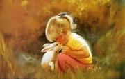 令人怀念的美好童年油画壁纸 壁纸3 令人怀念的美好童年油 绘画壁纸