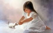 令人怀念的美好童年油画壁纸 壁纸6 令人怀念的美好童年油 绘画壁纸