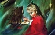 令人怀念的美好童年油画壁纸 壁纸8 令人怀念的美好童年油 绘画壁纸
