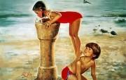 令人怀念的美好童年油画壁纸 壁纸10 令人怀念的美好童年油 绘画壁纸