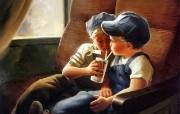 令人怀念的美好童年油画壁纸 壁纸11 令人怀念的美好童年油 绘画壁纸