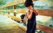 令人怀念的美好童年油画壁纸 壁纸13 令人怀念的美好童年油 绘画壁纸