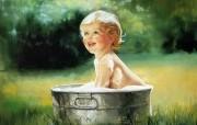 令人怀念的美好童年油画壁纸 壁纸15 令人怀念的美好童年油 绘画壁纸