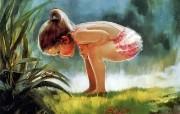 令人怀念的美好童年油画壁纸 壁纸17 令人怀念的美好童年油 绘画壁纸