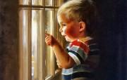 令人怀念的美好童年油画壁纸 壁纸20 令人怀念的美好童年油 绘画壁纸