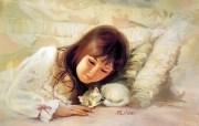 令人怀念的美好童年油画壁纸 壁纸21 令人怀念的美好童年油 绘画壁纸