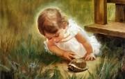 令人怀念的美好童年油画壁纸 壁纸22 令人怀念的美好童年油 绘画壁纸