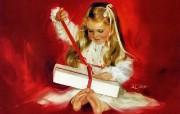 令人怀念的美好童年油画壁纸 壁纸23 令人怀念的美好童年油 绘画壁纸