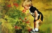 令人怀念的美好童年油画壁纸 壁纸27 令人怀念的美好童年油 绘画壁纸