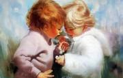 令人怀念的美好童年油画壁纸 壁纸28 令人怀念的美好童年油 绘画壁纸