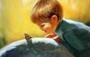 令人怀念的美好童年油画壁纸 壁纸29 令人怀念的美好童年油 绘画壁纸