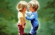 令人怀念的美好童年油画壁纸 壁纸32 令人怀念的美好童年油 绘画壁纸