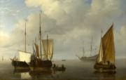 伦敦画廊帆船 绘画壁纸
