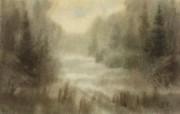 朦胧写意水彩画壁纸 风景水彩画 朦胧的早晨 图片壁纸 朦胧写意水彩画壁纸 绘画壁纸