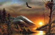 Flying Free Terry Redlin 野外写生绘画壁纸 美国画家Terry Redlin 绘画壁纸 绘画壁纸