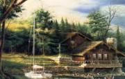 Summer Terry Redlin 野外写生油画壁纸 美国画家Terry Redlin 绘画壁纸 绘画壁纸